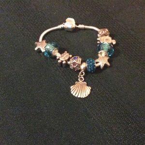 Jewelry - Silver Plated Smoke/PetFree Beaded Bracelet